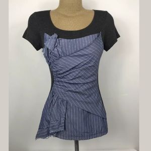 One September chambray corset bustier style tee